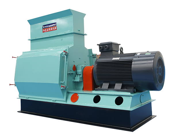 Single rotor hammer mill crusher
